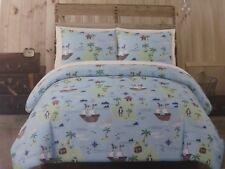 2 pc Authentic Kids Pirate Twin Comforter and Sham Set NIP