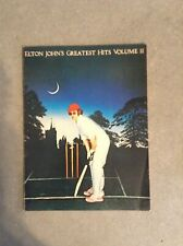 Elton Johns Greatest Hits Volume 2 Song Book