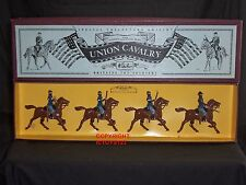 Britains 8854 american civil war union cavalry mounted toy soldier figure set