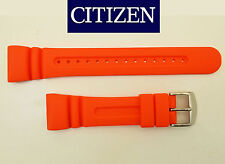 Citizen AQUALAND Original  Watch Band ORANGE Strap RUBBER JV0030-19 JV0020-21
