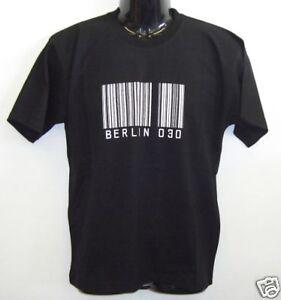 Fun T-Shirt * Berlin 030 Schwarz S - XXL