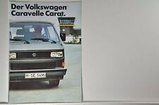 VW Volkswagen Bus T3 Caravelle Carat Prospekt 08/1986
