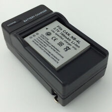 NB-4L Battery + Charger for CANON PowerShot ELPH 300 HS IXUS 220 Digital Camera