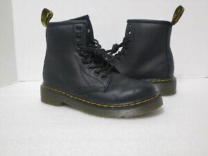 NEW Doc Martens Black Combat Boots Zippers 1460J  Girls / Boys Kids US Size 13