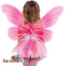 Bambino Ragazze Principessa Rosa Ali di Fata Costume Festa Costume Accessorio
