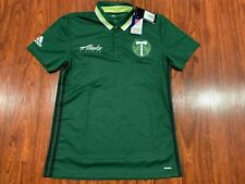 Adidas Portland Timbers Soccer Team Polo Jersey Shirt Medium M MLS US