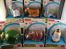 Fisher Price Little People Zoo Penguin Rhino Turtle Seal Tiger Zebra New