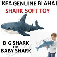 IKEA BLAHAJ BABY SHARK Soft Toy Very BIG 100 cm  BLÅHAJ TEETH Large Halloween