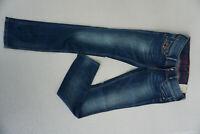 PEPE JEANS Anniversary Damen Straight Hose Stretch 29/32 W29 L32 blau NEU CP1