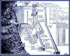 Hoover Dam Diagramme: Blueprint Giclee