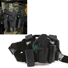 Quick Tactical Right Hand Paddle Leg Belt Thigh Hard Drop Holster For GLOCK 17