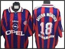 Maglia adidas bayern munchen trikot 1995 opel klinsmann football shirt vintage