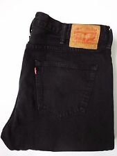 Levi's 501 Jeans Uomo Stretch Vita Alta Gamba Dritta W38 L36 Nero levh 232 #