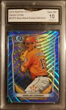 2014 Bowman Chrome Blue Wave Refractor  Carlos Correa RC GMA 10 Gem Mint