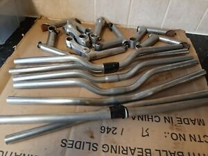 Retro Silver Handlebars and Stems X 8 MTB / Universal Rebuilds / Restorarations