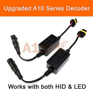 2x A10 EMC 9005 DRL Canbus LED Decoder Error Free Anti-Flicker Warning Canceller