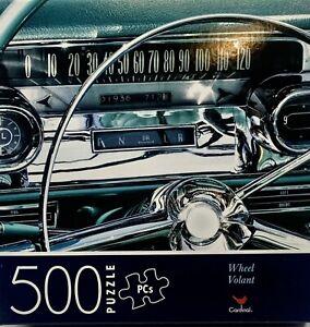 "CLASSIC CAR WHEEL/VOLANT/DASH-CARDINAL 500 Piece Jigsaw Puzzle 14""x11"""