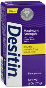 Desitin Maximum Strength Baby Diaper Rash Cream with 40% Zinc Oxide 2 Ounce