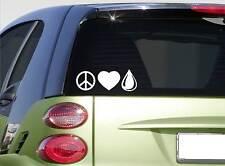 Peace Love Oil sticker decal *f440* essential oil oregano lavender drill well