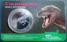 Coincard T. rex Trix penning 2016 in BU kwaliteit, Tyrannosaurus Rex, T-rex.