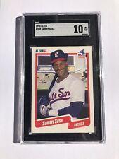 1990 Fleer # 548 - SAMMY SOSA - Rookie RC - SGC 10 GEM MINT = PSA 10 - Cubs