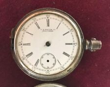 1892 US Watch Co. Waltham 6s Hunters Case Pocket watch Fahy's Coin Silver