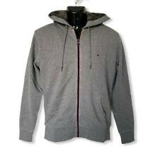 Tommy Hilfiger Mens Designer Grey Sherpa Lined Full Zip Hoodie Jacket S M XL XXL