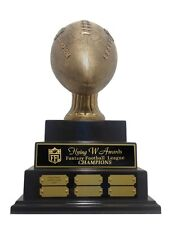 3 Tier Large Embossed Fantasy Football Perpetual Trophy Awesome New Design! *