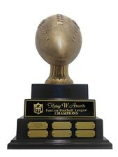 3 TIER LARGE EMBOSSED FANTASY FOOTBALL PERPETUAL TROPHY AWESOME NEW DESIGN!