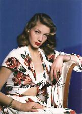 Lauren Bacall Oscar Legend 5x7 Photo Signed Auto