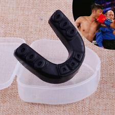 Black Teeth Protector Mouth Guard Piece Gym Boxing Gum Sheild Free Size+ box