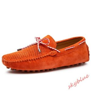 Mens Suede Leather Loafers Shoes Slip On Breathable Moccasin-gommino Casual Shoe