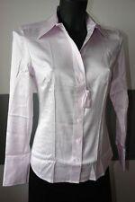 Designer Bluse aus Seide im zartem Rosa in Größe S langarm  Marke Dine`n`Dance