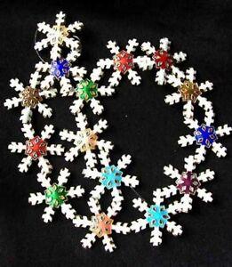 Fab Cloisonne 30x27mm Snowflake Centerpiece Bead Strand 108638