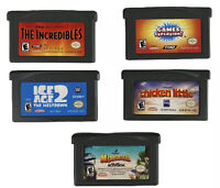 Nintendo Gameboy Advance Game Lot Of 5: Incredibles, Ice Age 2, Madagascar More