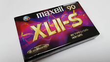 MAXELL XLII-S 90 CHROME CrO2 - Blank Audio CHROME Tape Cassette XLII-S NEUVE N&S