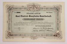 Saal Unstrut Eisenbahn Aktie