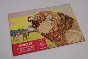 RAR - O&M ELASTOLIN HAUSSER Katalog 1967 / Sammler / Prospekt #J