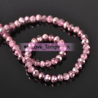 Rondelle Faceted Charms Glass Loose Spacer Beads Wholesale Lots 4mm 6mm 8mm 10mm