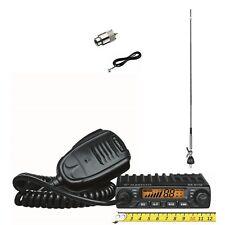SET Albrecht AE 6110 Mini CB-Funkgerät m. 60cm Antenne und Anschlußmaterial
