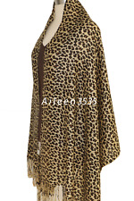 Fashion Leopard Jacquard Pashmina shawl/Wrap/Scarf-Beige