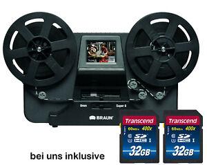 Braun / Reflecta Filmscanner NovoScan Digitalisieren Sie Super 8 Normal 8 +64GB