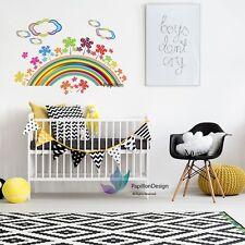 Colourful rainbow  flower  nursery /children's/ girl's bedroom  wall sticker