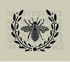 STENCIL French Queen Bee Wreath   10x8.8 FREE US SHIPPING