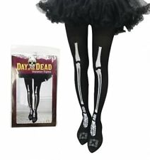 BLACK SKELETON TIGHTS - Perfect For Halloween - Fancy Dress - Same Day Despatch