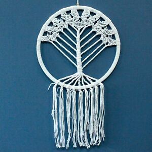 Indonesian Tree of Life Boho Dreamcatcher Knitted Craft Room Wall Decoration UK