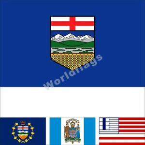 Canada Alberta Flag 3X5 3X6FT Lieutenant-Governor Calgary Edmonton Lethbridge