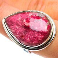 Large Thulite 925 Sterling Silver Ring Size 8.75 Ana Co Jewelry R43008F