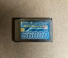 More details for com one platinum card mc220 56k pcmcia modem pc card