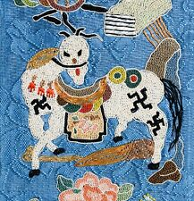 New listing Exceptional Antique 19Th Century Chinese Horse Silk Tapestry Embroidery Signed